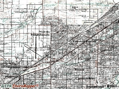 North Highlands topographic map