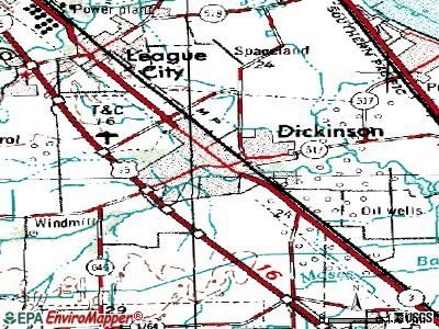 Dickinson topographic map