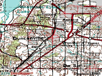 Duncanville topographic map