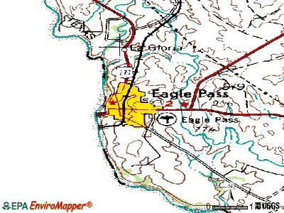 Eagle Pass topographic map