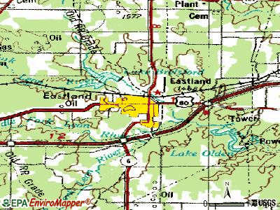 Eastland topographic map
