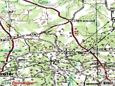 Ector topographic map