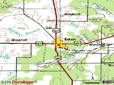 Eden topographic map