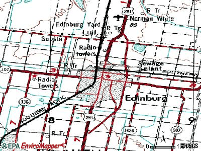 Edinburg topographic map