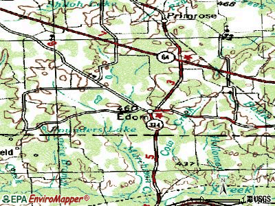 Edom topographic map