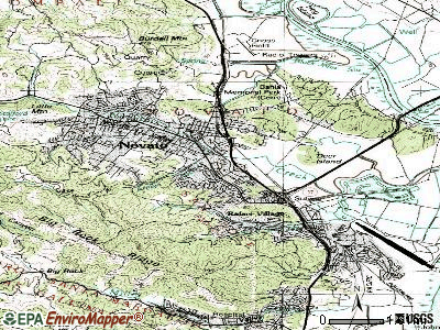 Novato topographic map
