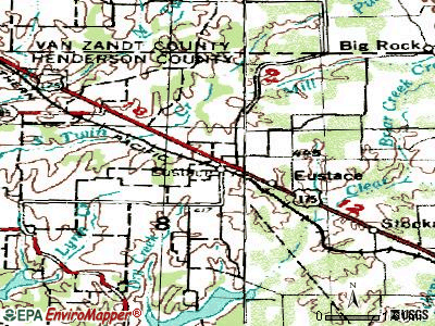 Eustace topographic map