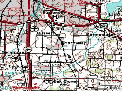 Everman topographic map