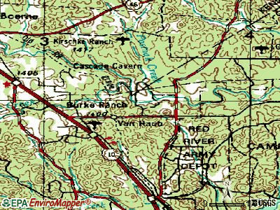 Falcon Lake Estates topographic map