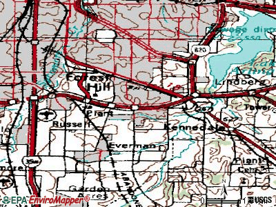 Forest Hill topographic map