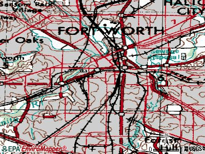 Fort Worth topographic map