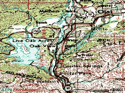 Oak View topographic map