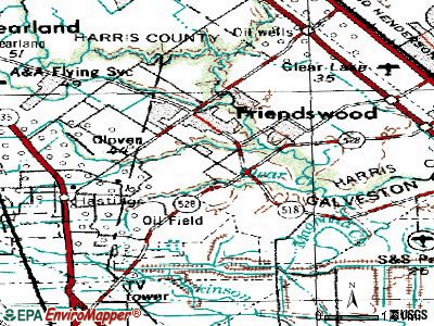 Friendswood topographic map
