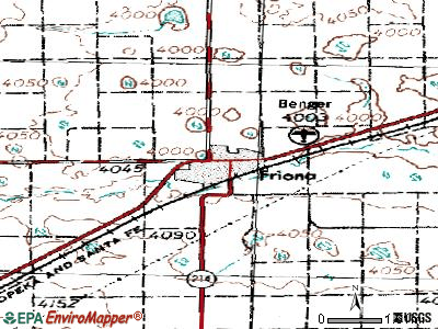 Friona topographic map