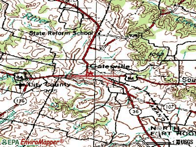 Gatesville topographic map