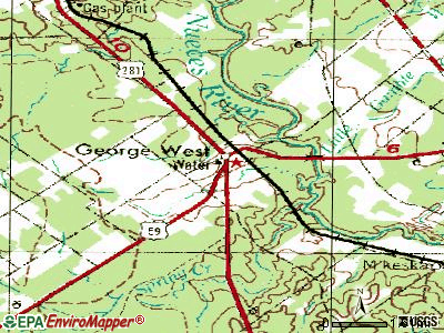 George West topographic map