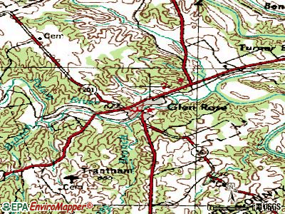 Glen Rose topographic map