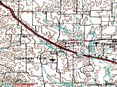 Godley topographic map
