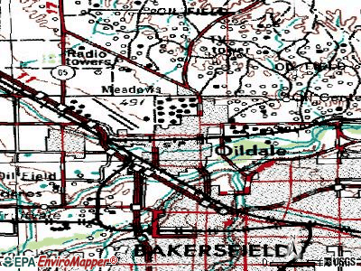 Oildale topographic map