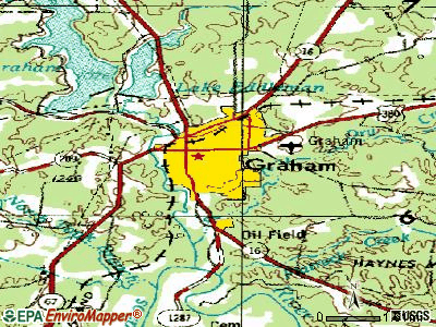 Graham topographic map