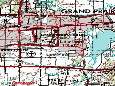 Grand Prairie topographic map
