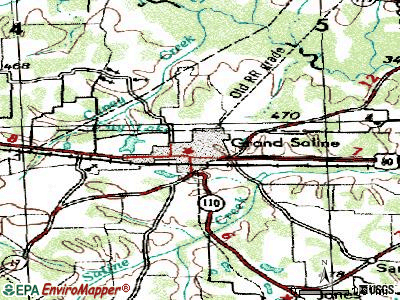 Grand Saline topographic map