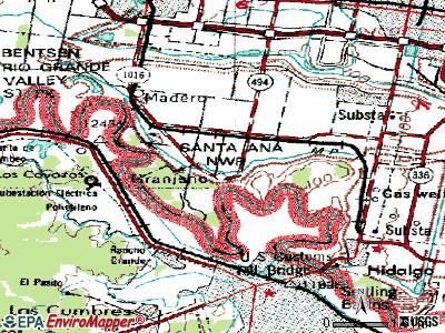 Granjeno topographic map