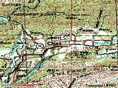 Ojai topographic map