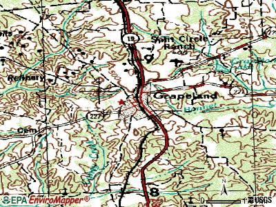 Grapeland topographic map