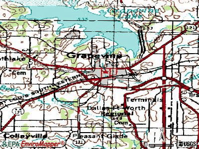 Grapevine topographic map