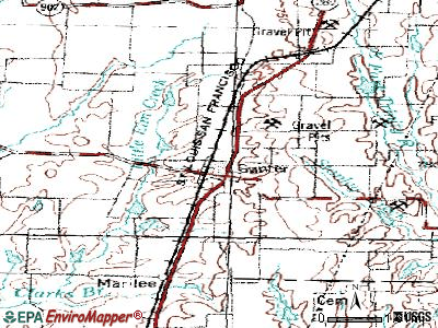 Gunter topographic map