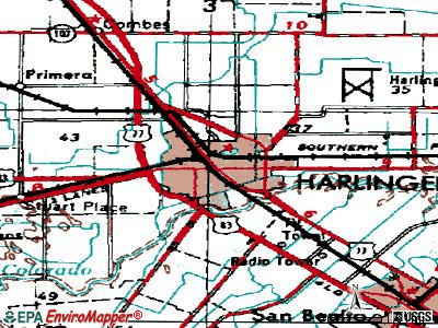 Harlingen topographic map