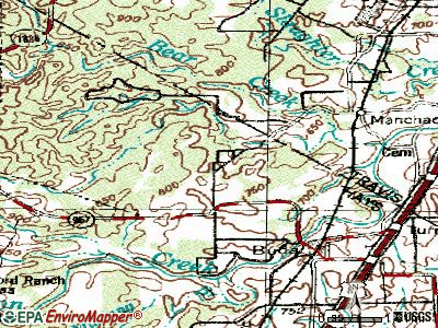 Hays topographic map