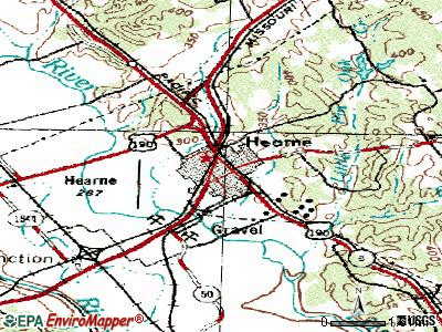 Hearne topographic map