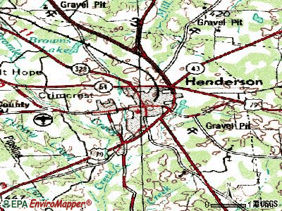 Henderson topographic map