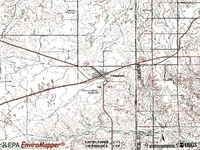 Higgins topographic map