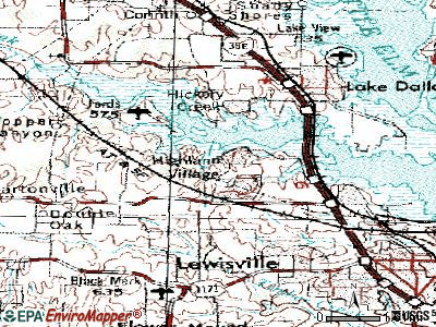 Highland Village topographic map