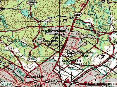 Hitchcock topographic map