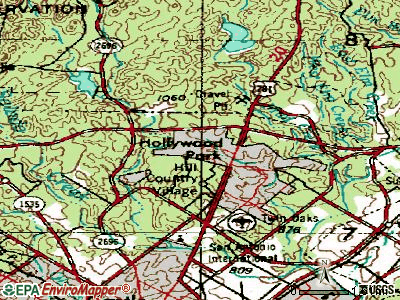 Homestead Meadows South topographic map