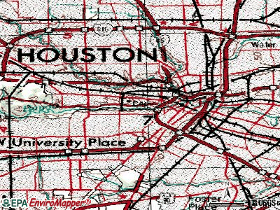 Houston topographic map