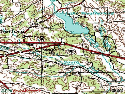 Hudson Oaks topographic map