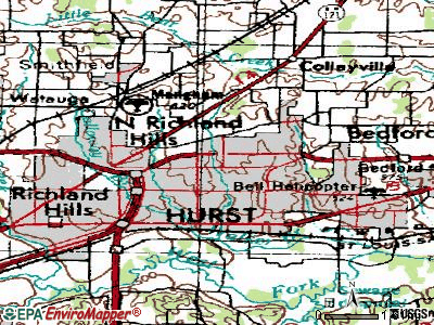 Hurst topographic map