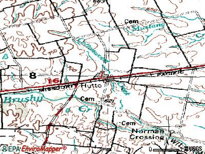 Hutto topographic map