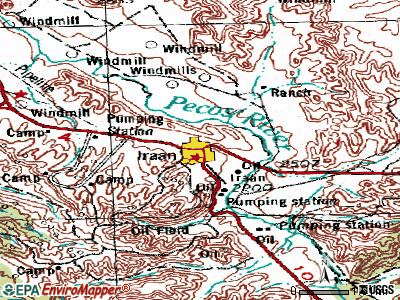 Iraan topographic map
