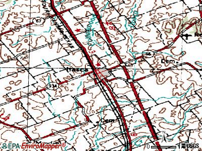 Itasca topographic map