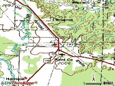Jayton topographic map