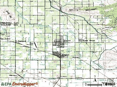 Orosi topographic map