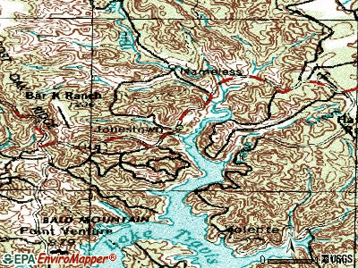 Jonestown topographic map