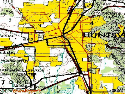 Huntsville topographic map