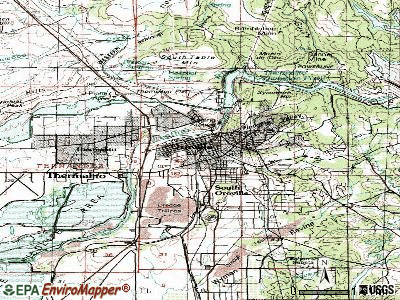 Oroville topographic map